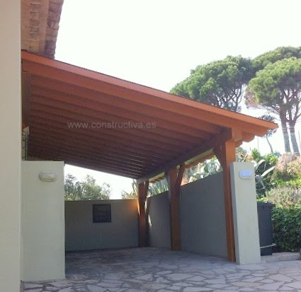 construccion carport madera