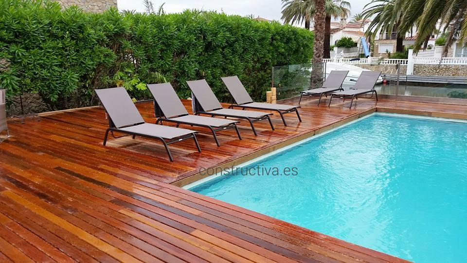 terrassement en bois tropical empuriabrava costa brava